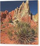 Yucca Badlands And Colors Wood Print