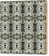 Yucca White Pattern Wood Print