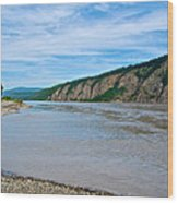 Yukon River As It Heads Northeast To The Arctic Circle-yt Wood Print