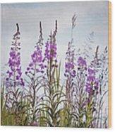 Yukon State Flower Wood Print