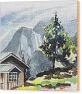 Yuksom Wood Print