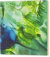Yupo Blue Ice Wood Print