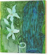 Yupo Flower On Chair Wood Print