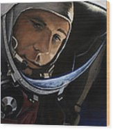 Yuri Alekseyevich Gagarin Wood Print by Simon Kregar