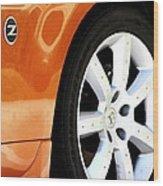 Z Emblem Wheel Wood Print