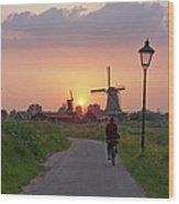 Zaanse Schans Windmills Wood Print