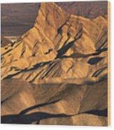 Zabriske Point Sunrise Wood Print