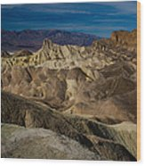 Zabriskie Point 2 Wood Print