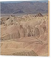 Zabriskie Point Panorama Wood Print