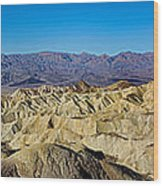 Zabriskie Point Panoramic Wood Print