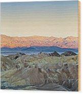Zabriskie Point Panorana Wood Print by Jane Rix