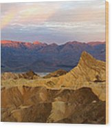 Zabriskie Point Sunrise Death Valley Wood Print