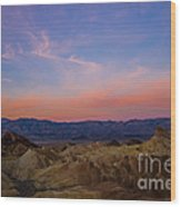 Zabriskie Point Sunrise Wood Print