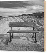 Zabriskie's Bench Wood Print