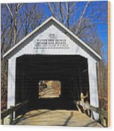 Zacke Cox Covered Bridge Wood Print