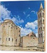Zadar Cathedral Famous Landmark Of Croatia Wood Print
