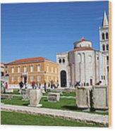 Zadar Historic Architecture Wood Print