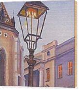 Zagreb Gaslight - Croatia Wood Print