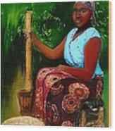 Zambia Woman Wood Print