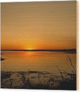 Zambian Sunrise Wood Print