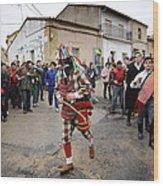 Zangarron Mascarade 5 Wood Print