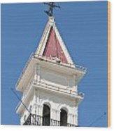 Zante Town-hall Old On Zakynthos Island - Greece  Wood Print