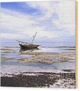 Zanzibar Boat 22 Wood Print