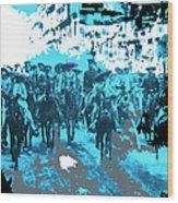 Zapata And Villa At Head Of Convencionista Army Mexico City December 6 1914-2013 Wood Print