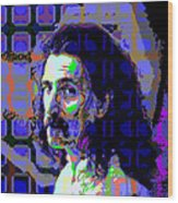 Zappa Blue Wood Print