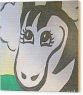 Zebe Zebra Wood Print by Lyn Vic