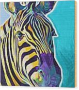 Zebra - Sunrise Wood Print