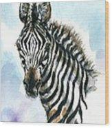 Zebra 1 Wood Print