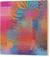 Zebra Art - Mtc077b Wood Print