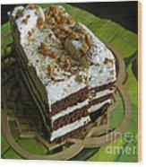 Zebra Cake Wood Print