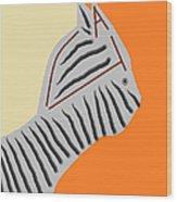 Zebra Cat Wood Print