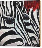 Zebra Couple Wood Print