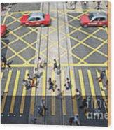 Zebra Crossing - Hong Kong Wood Print
