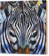 Zebra Dreams Wood Print