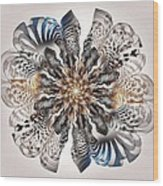 Zebra Flower Wood Print