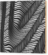 Zebra Folds Wood Print