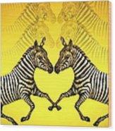 Zebra Heart Wood Print