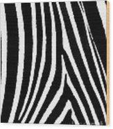 Zebra Hide Wood Print