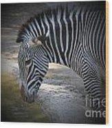 Zebra I Wood Print
