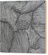 Zebra Line Wood Print