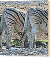 Zebra Lineup Wood Print