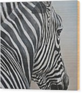 Zebra Look Wood Print