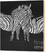 Zebra Love 1 Wood Print