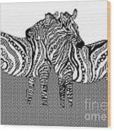 Zebra Love 10 Wood Print