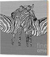 Zebra Love 12 Wood Print
