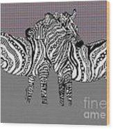 Zebra Love 25 Wood Print